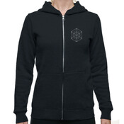 Women's - black / white logo - AS Colour INDEX ZIP HOOD (New)