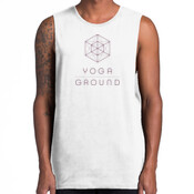 Mens White/Purple - AS Colour BARNARD TANK TEE