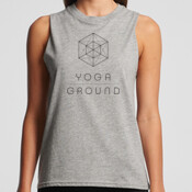 Women's Tank - Grey / Black logo - AS Colour BROOKLYN TANK