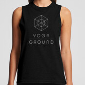 Women's - Black / White logo - AS Colour BROOKLYN TANK