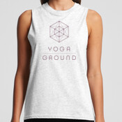 Women's Tank - White / Purple logo - AS Colour BROOKLYN TANK