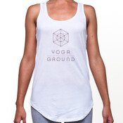 Women's - White / purple logo - AS Colour DASH SINGLET