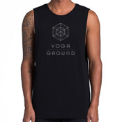 Mens Black/white - AS Colour BARNARD TANK TEE